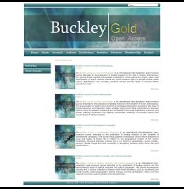 Buckley Gold Open Access Journals All