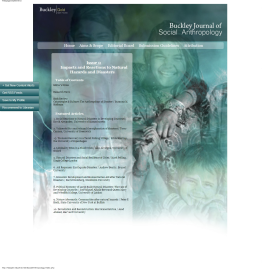Buckley Journal of Social Anthropology