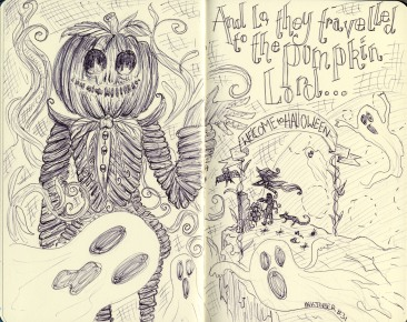 Inktober #31 Welcome to Halloween - Biro